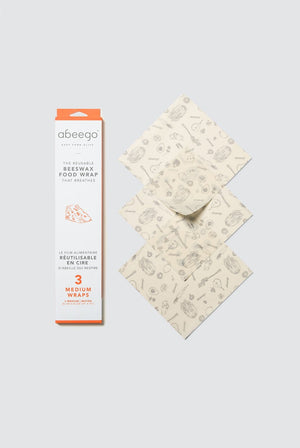 Abeego KITCHEN | CL Medium Abeego Reusable Beeswax Food Wraps - 3 Pack