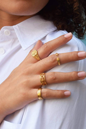 Mood Good ACCESSORIES | Womens MG X HSC Pinky Promise Ring 18K Gold Vermeil