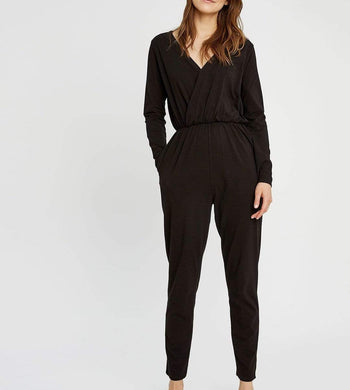 People Tree DRESSES & JUMPSUITS | Womens Odette Organic Cotton Black Jumpsuit