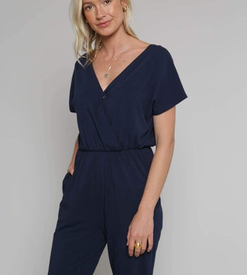 People Tree DRESSES & JUMPSUITS | Womens Oliana Organic Cotton Navy Jumpsuit