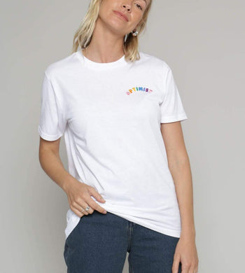 Birdsong T-SHIRTS | Womens Optimist Organic Cotton T-Shirt White