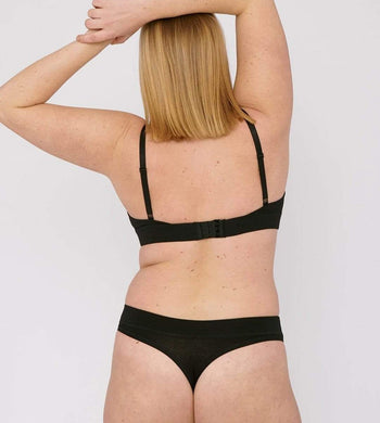 Organic Basics LINGERIE & NIGHTWEAR | Womens Organic Cotton Black Thong 2-Pack