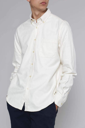 ISTO SHIRTS | Mens Organic Cotton Flannel Shirt Pale Yellow