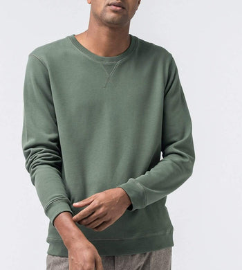 ISTO ACTIVEWEAR & LOUNGEWEAR | Mens Organic Cotton Sweatshirt Green