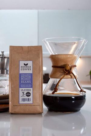 Source Climate Change Coffee GIFTING | CL Organic La Sierra Cloud Forest Coffee: Mexico Strength 3 (Beans)