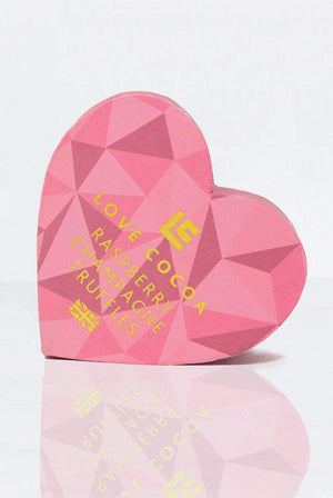 Love Cocoa GIFTING | CL Pink Heart Raspberry Champagne Truffle Box
