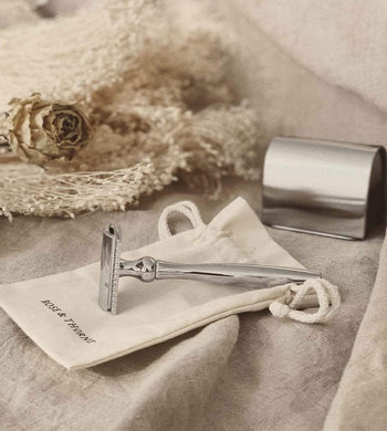 Rose & Thorne BATHROOM | CL Plastic-Free Shaving Starter Pack with Organic Cotton Pouch