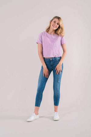 Know The Origin T-SHIRTS | Womens Poppy Organic Cotton T-Shirt Pink
