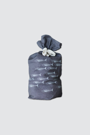 Helen Round KITCHEN | CL Pure Linen Bread Bag Fish Design