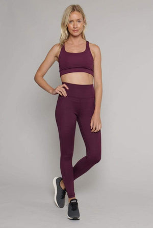 Girlfriend Collective ACTIVEWEAR & LOUNGEWEAR | Womens Recycled PET High-Rise Compressive Leggings Plum