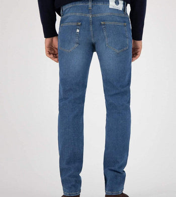 MUD Jeans TROUSERS & JEANS | Mens Regular Bryce Organic & Recycled Cotton Authentic Indigo Jeans