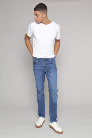 MUD Jeans TROUSERS & JEANS | Mens Regular Dunn Organic & Recycled Cotton Pure Blue Jeans