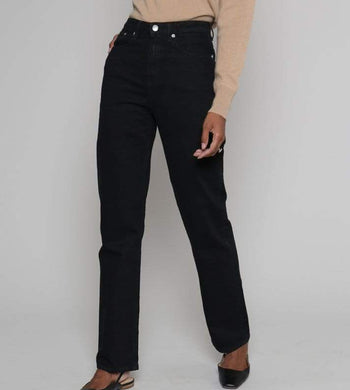 MUD Jeans TROUSERS & JEANS | Womens Relax Rose Organic & Recycled Cotton Straight Leg Jeans Black