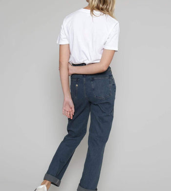 MUD Jeans TROUSERS & JEANS | Womens Relax Rose Organic & Recycled Cotton Straight Leg Jeans Dark Blue
