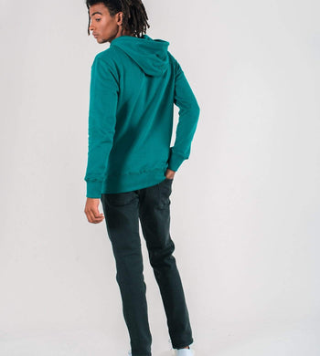 Know The Origin ACTIVEWEAR & LOUNGEWEAR | Mens Revi Organic Cotton Hoodie Pine Green