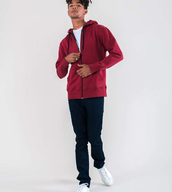 Know The Origin ACTIVEWEAR & LOUNGEWEAR | Mens Revi Organic Cotton Hoodie Red