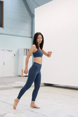 Organic Basics ACTIVEWEAR & LOUNGEWEAR | Womens SilverTech Active Blue Leggings
