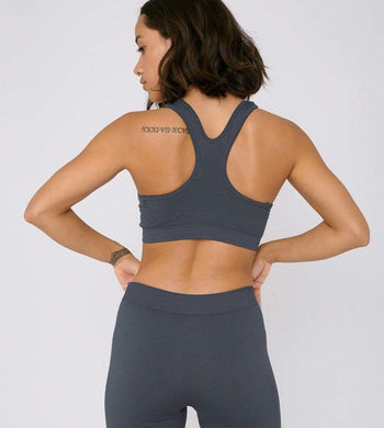 Organic Basics ACTIVEWEAR & LOUNGEWEAR | Womens SilverTech Active Blue Workout Bra