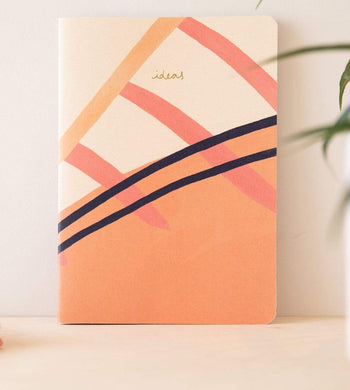 Vent For Change HOME | CL Soft Cover A5 Recycled Card Ideas Plain Sketchbook Pink