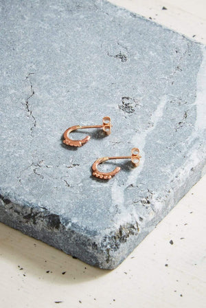 Kind ACCESSORIES | Womens Solar Huggy Hoops 9ct Rose Gold