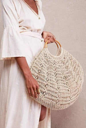 The Dharma Door BAGS | Womens The Carly Bag Large Macrame Natural