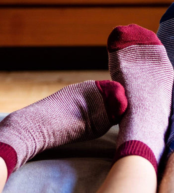 Socko ACCESSORIES | Unisex The Reader Red Recycled Socks