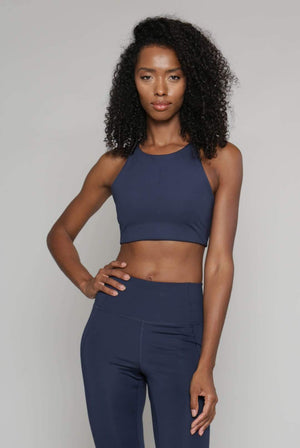 Girlfriend Collective ACTIVEWEAR & LOUNGEWEAR | Womens Topanga Recycled PET Bra Midnight