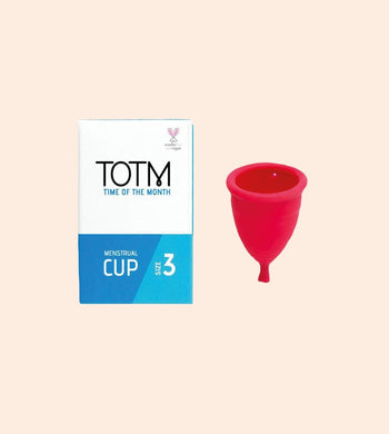TOTM BATHROOM | CL TOTM TPE Menstrual Cup with Organic Cotton Drawstring Pouch
