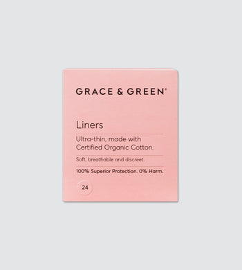 Grace & Green BATHROOM | CL Ultra Thin Organic Cotton Liners (x24)