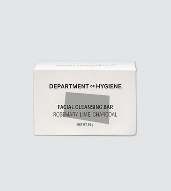 Department of Hygiene BATHROOM | CL Vegan Exfoliating Facial Cleansing Bar - Rosemary, Lime and Activated Charcoal