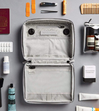 OneNine5 BATHROOM | CL Vegan Leather Travel Wash Bag - Grey