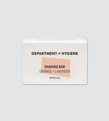Department of Hygiene BATHROOM | CL Vegan Moisturising Shaving Bar - Orange & Lavender