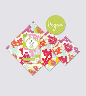 Bee Bee & Leaf KITCHEN | CL Vegan Plant-Based Wax Food Wraps (Pomegranate) Mixed Pack