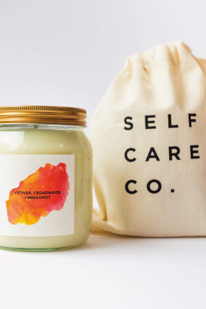Self Care Co. HOME | CL Vetiver, Cedarwood & Bergamot Natural Soy Candle
