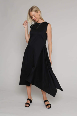 ADVA DRESSES & JUMPSUITS | Womens 'Win it' Bamboo Asymmetrical Dress Black