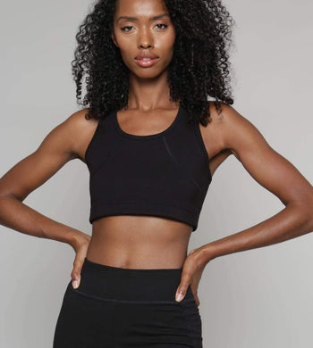People Tree ACTIVEWEAR & LOUNGEWEAR | Womens Yoga Black Crop Top