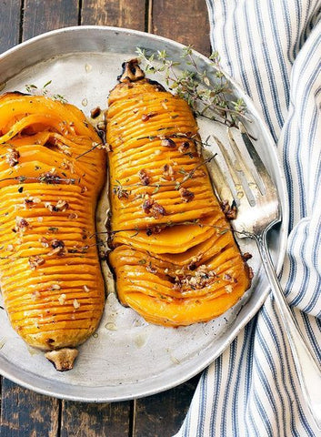 Roasted Butternut with Pecans and Maple Syrup