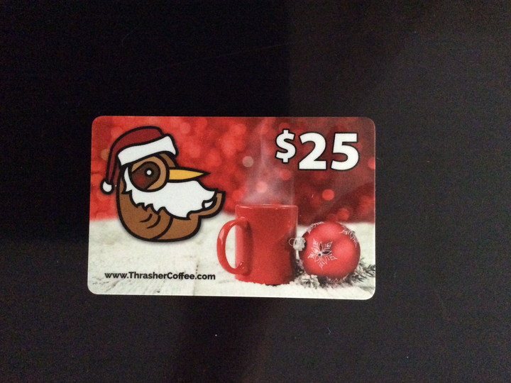 $25 Thrasher Gift Card (Physical Mailed Card)