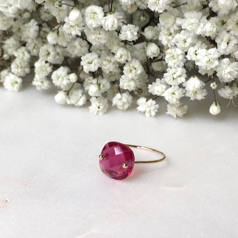 Bague PALOMA rose transparent