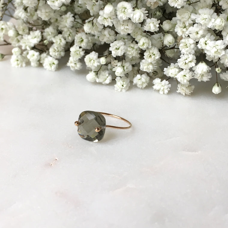 Bague PALOMA gris transparent
