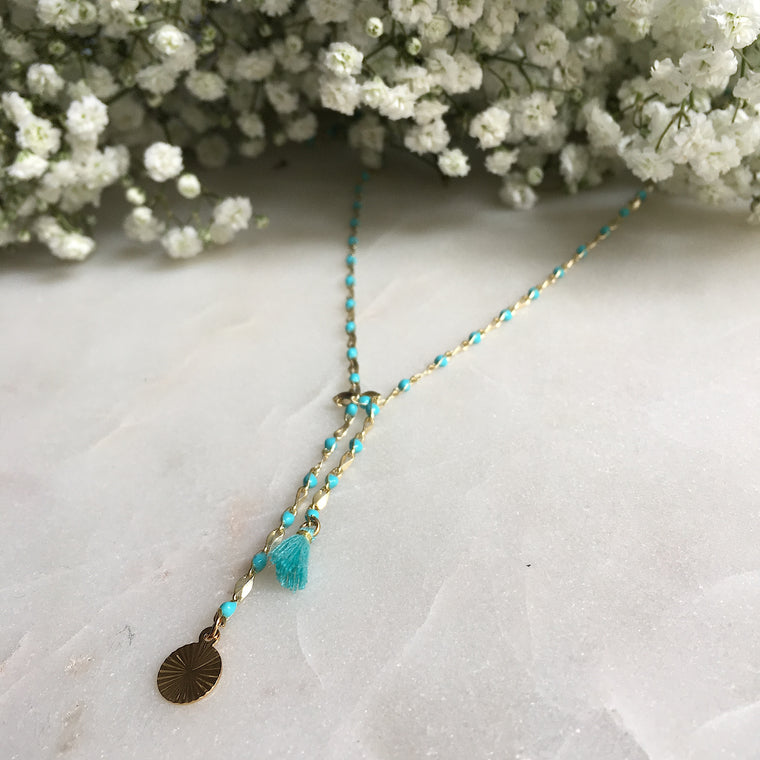 Collier CHAPELET turquoise