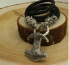 Norse Viking Wolf Necklace & Thor's Hammer 4 colors