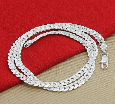 High Quality 6MM 925 Sterling Silver 20 Inch Chain Necklace