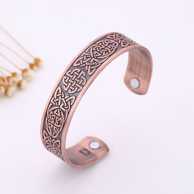 Square Knot Viking Bronze Silver Copper Stainless Steel Cuff Bracelet Unisex
