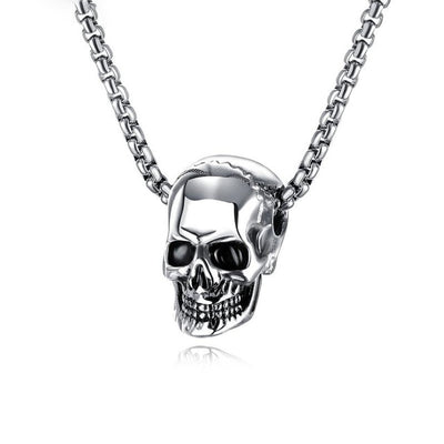 "Skull Pendant 1"" Stainless Steel 3 Colors w/ 21"" Necklace"