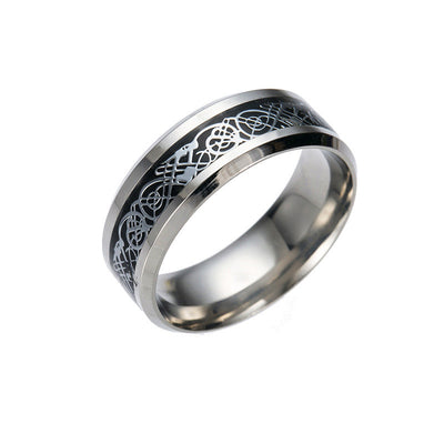 Viking/Norse 316L Stainless Steel Ring  Sizes 5-13 Choice of 4 Colors Men/Woman/Unisex