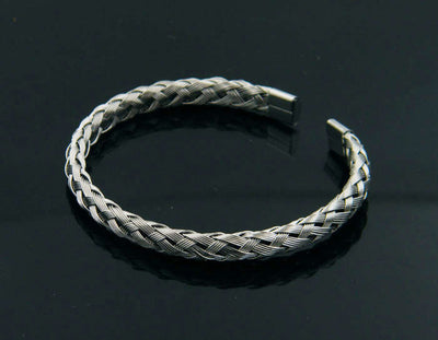 Viking/Norse Stainless Steel Silver, Gold, Rose & Black Cuff Bracelet Unisex