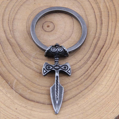 Talisman Norse Viking Sword Amulet Keychain Pendant! Choice of Antique Silver, Bronze, Black Or Copper! - Viking Jewelry Life
