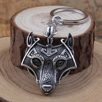 Wolf Talisman Norse Viking Amulet Keychain Pendant Antique Silver Antique Bronze Antique Black Antique Copper - Viking Jewelry Life