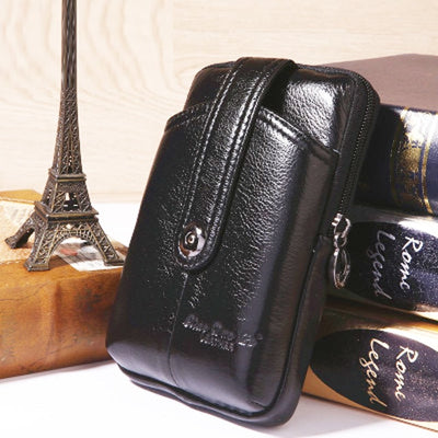 New Genuine Leather Vintage Belt or Waist Bag Purse Cell Phone Concert Bag